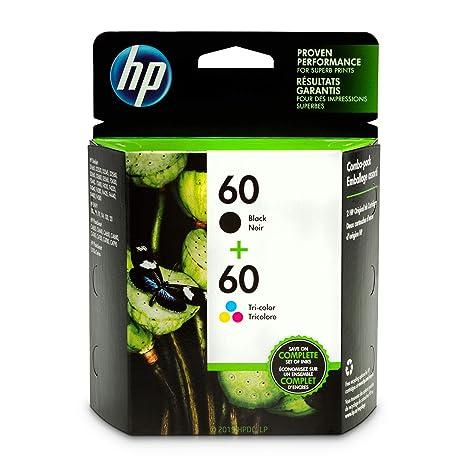 Amazon.com: Dos cartuchos de tinta original HP 60 color ...