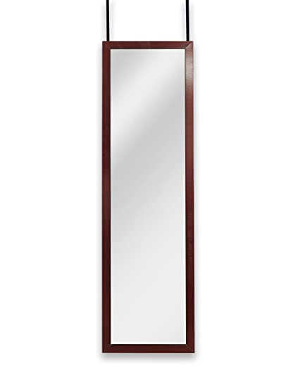 Charmant Mirrotek Over The Door Wall Mounted Full Length Door Dressing Mirror,  Hardware Included, Cherry