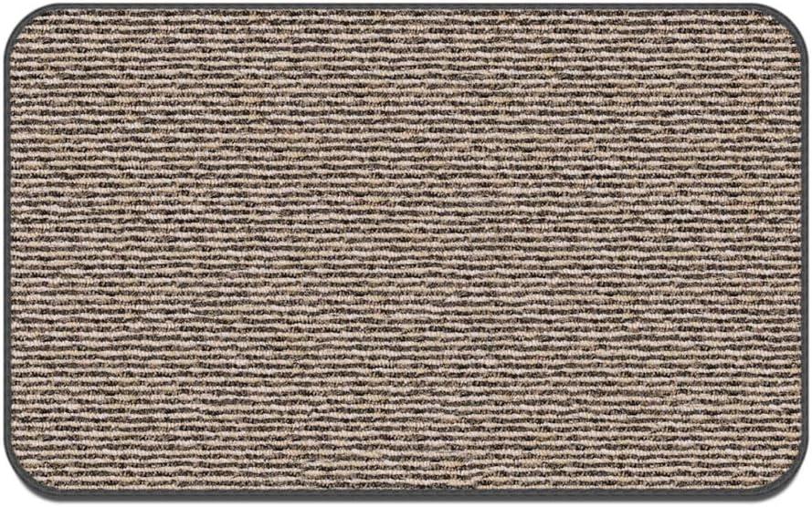 House, Home and More Skid-Resistant Carpet Indoor Area Rug Floor Mat - Black Ripple - 2 Feet X 3 Feet