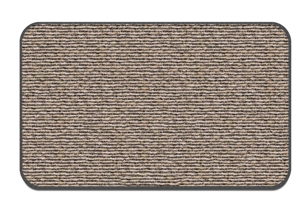 House, Home and More Skid-Resistant Carpet Indoor Area Rug Floor Mat - Black Ripple - 3 Feet X 5 Feet