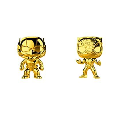 Funko Pop! Marvel Studios 10 Set of 2: Gold Chrome Black Panther and Ant-Man: Toys & Games