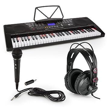 Schubert Etude 225 USB • Teclado de aprendizaje con auriculares de estudio y micrófono • Piano