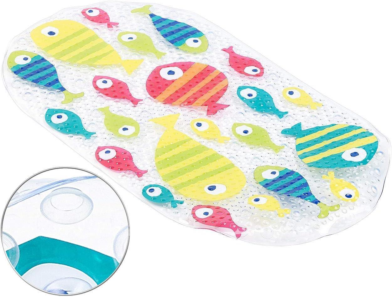 1 Non-Slip Bath mat 69 x 38 cm Colourful BadeStern Fish Motif