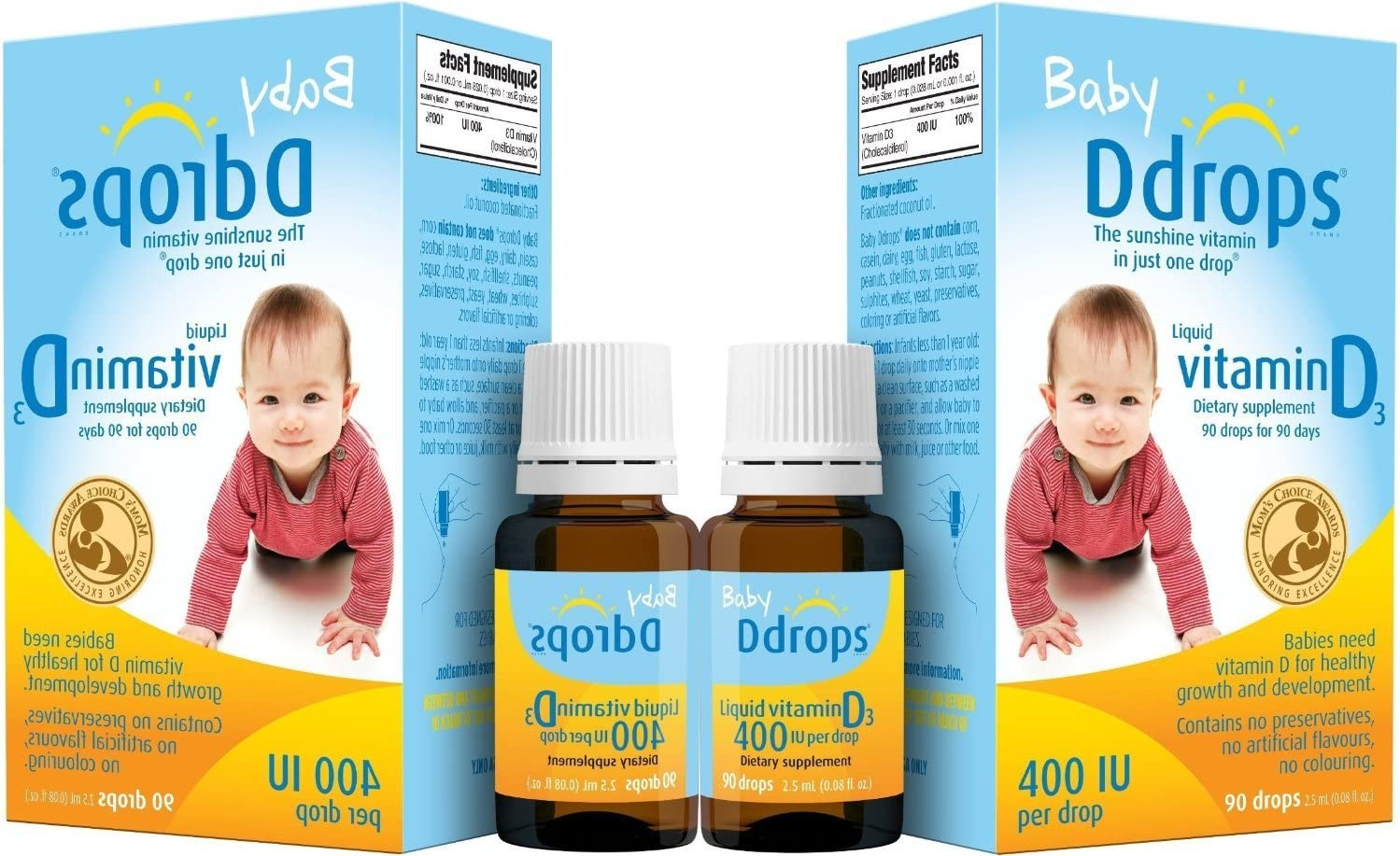 Baby Ddrops® 400 Iu 90 Drops (Pack of Two)