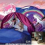 Nifogo Carpa Tiendas de Ensueño - Tent Kids, Magical World Carpa Impermeable Ensueño Wizard Children Play Cama Tienda…