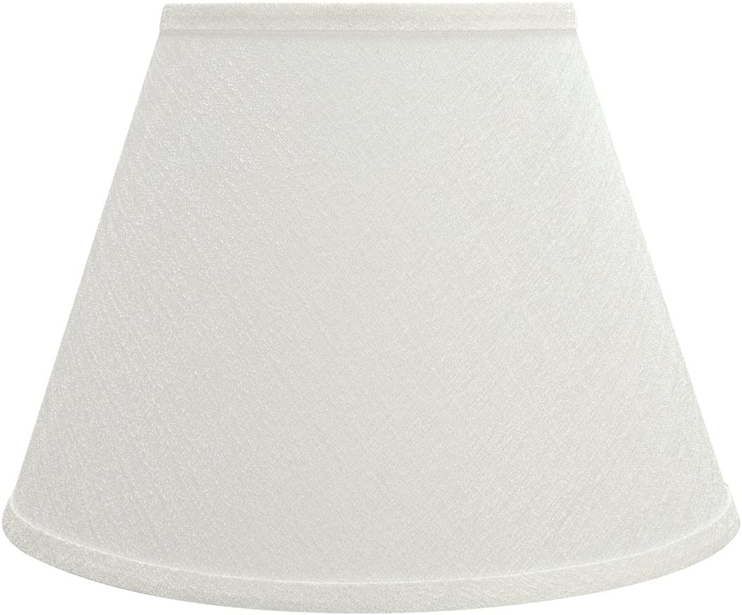 Aspen Creative 32685 Transitional Hardback Empire Shaped in, 13 Wide 7 x 13 x 9 1 2 Spider Construction Lamp Shade, Off White