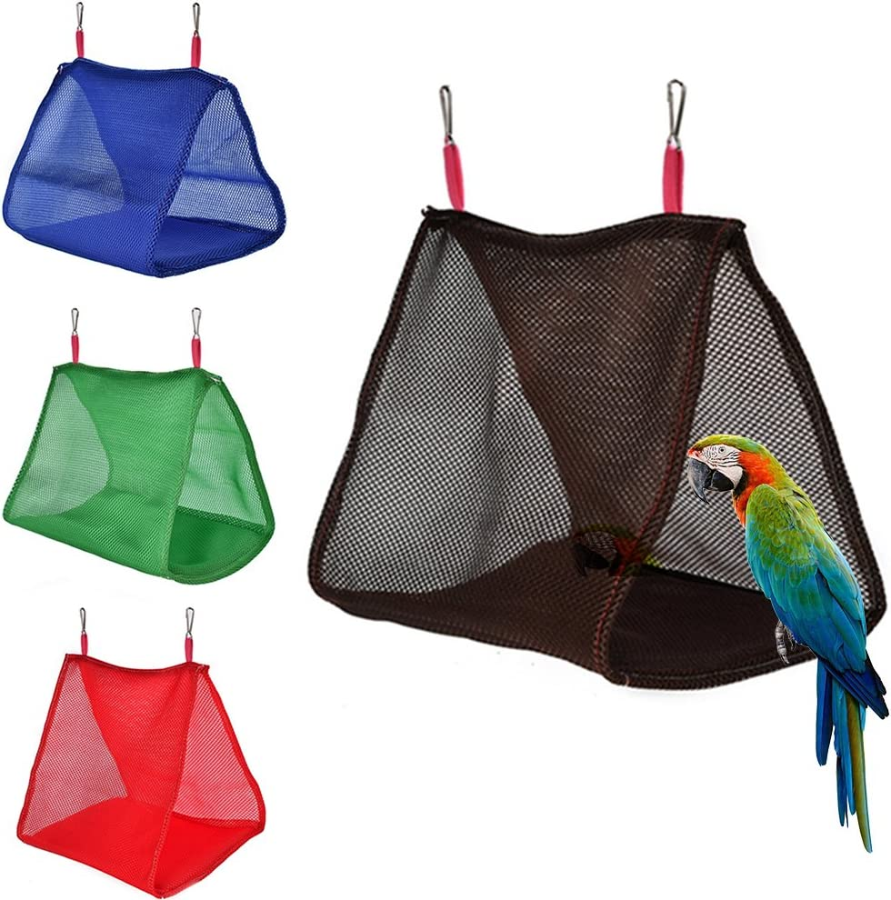 Rubyyouhe8 Bird Accessories/&Summer Parrot Birds Breathable Hammock Hanging Cave Cage Hut Tent Bed Bunk Toy Colorful Bird Parrot Toys Hanging Toy for Parakeets Cockatiels Small Pet