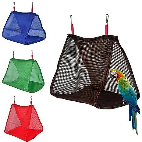 Danigrefinb Suministros para Mascotas para pájaros, Loro de Verano, pájaros, Hamaca Colgante Transpirable