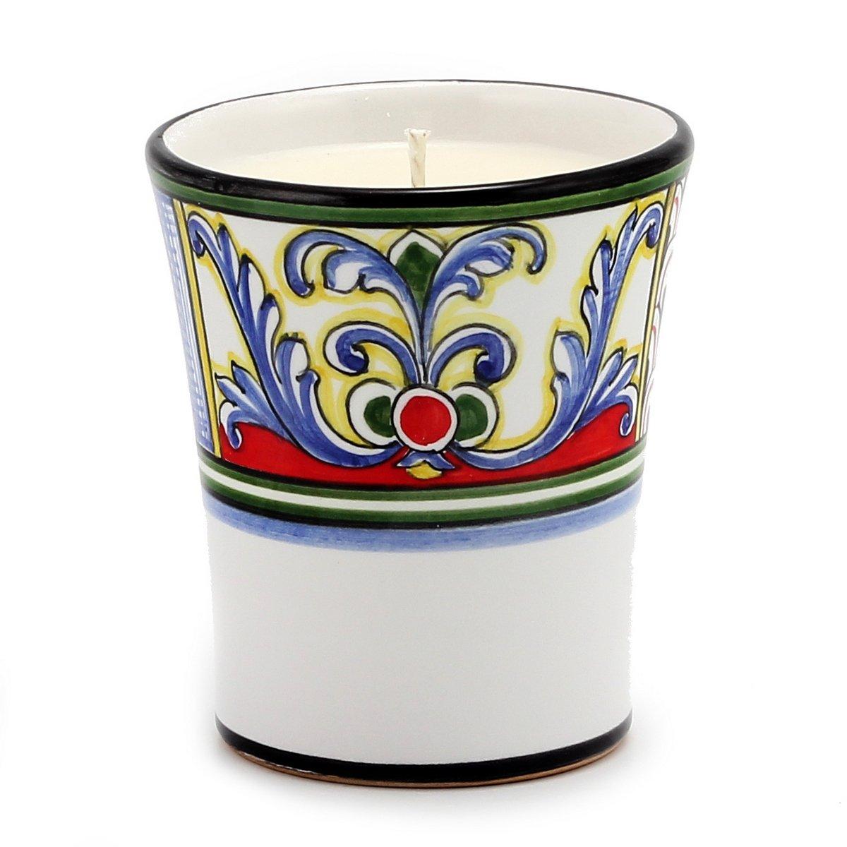 DERUTA CANDLE: Contempo Cup YASMINE Design, Tuscan Apple Harvest