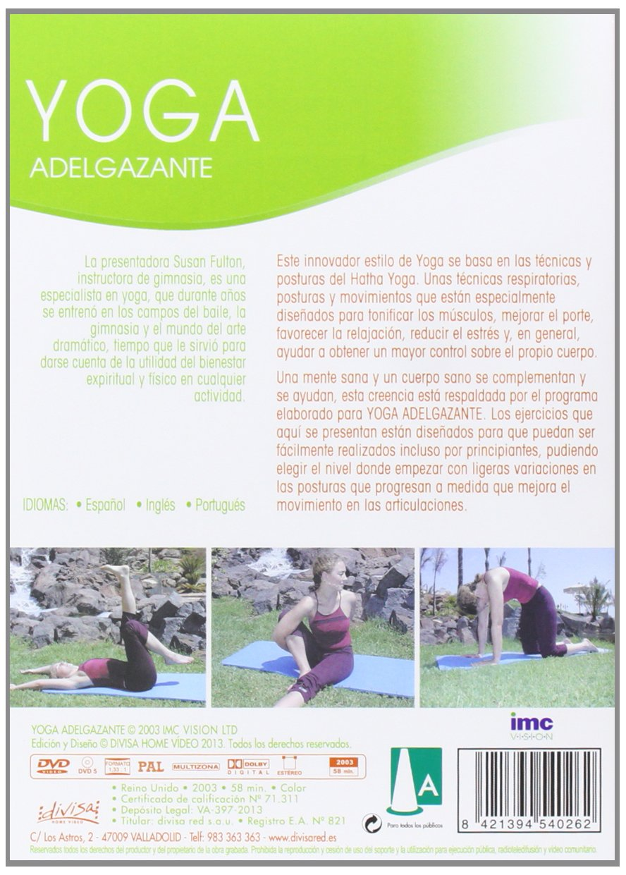 Yoga adelgazante [DVD]: Amazon.es: Cine y Series TV