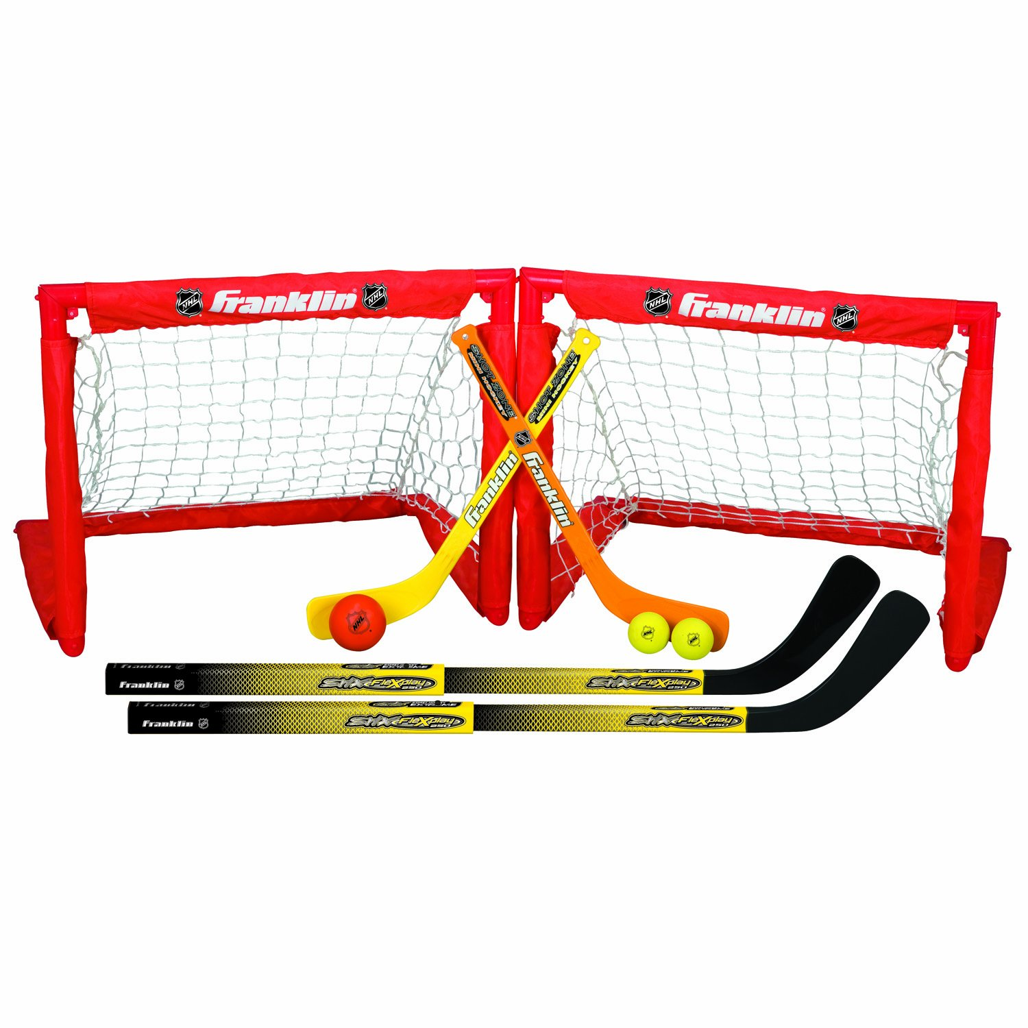 Franklin Sports Kids Folding Hockey 2 Goal Set - NHL...