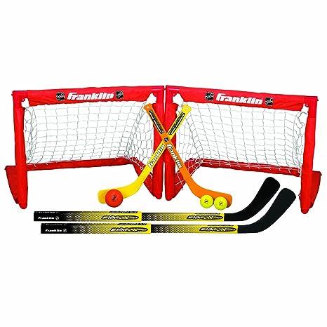 Amazon Com Franklin Sports Kids Folding Hockey 2 Goal Set Nhl