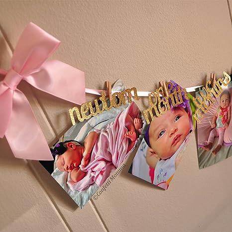 confetti momma 12 months photo banner 1st birthday girl decorations monthly photo banner birthday