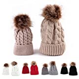 2017 1 pair Lovely Winter Kids Knitted Hats Knit