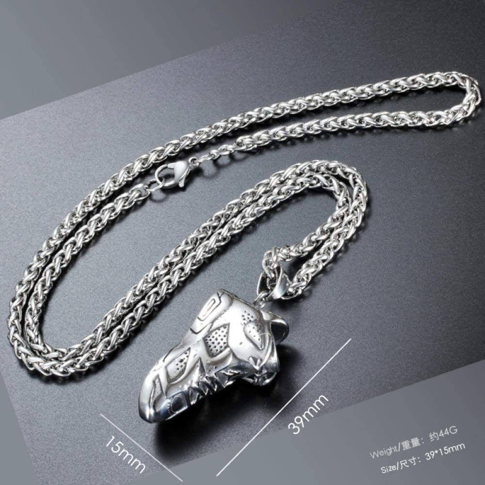 Necklace,Mens Necklaces,Sneakers Hip Hop Necklace Tide Titanium Steel Pendant Stainless Steel Jewelry