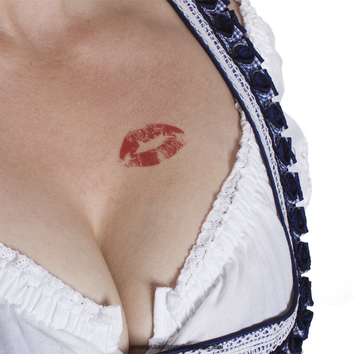 10 x Kiss Tattoo - Red Lip temporary tattoo stickers - bachelorette party TMP