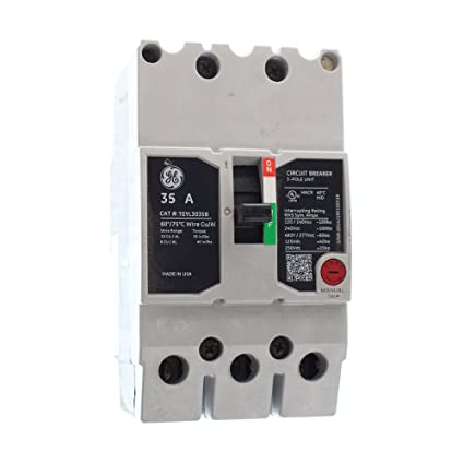 GE TEYL3035B Circuit Breaker, 277/480-Volt, 3-Pole, 35-Amp ... on