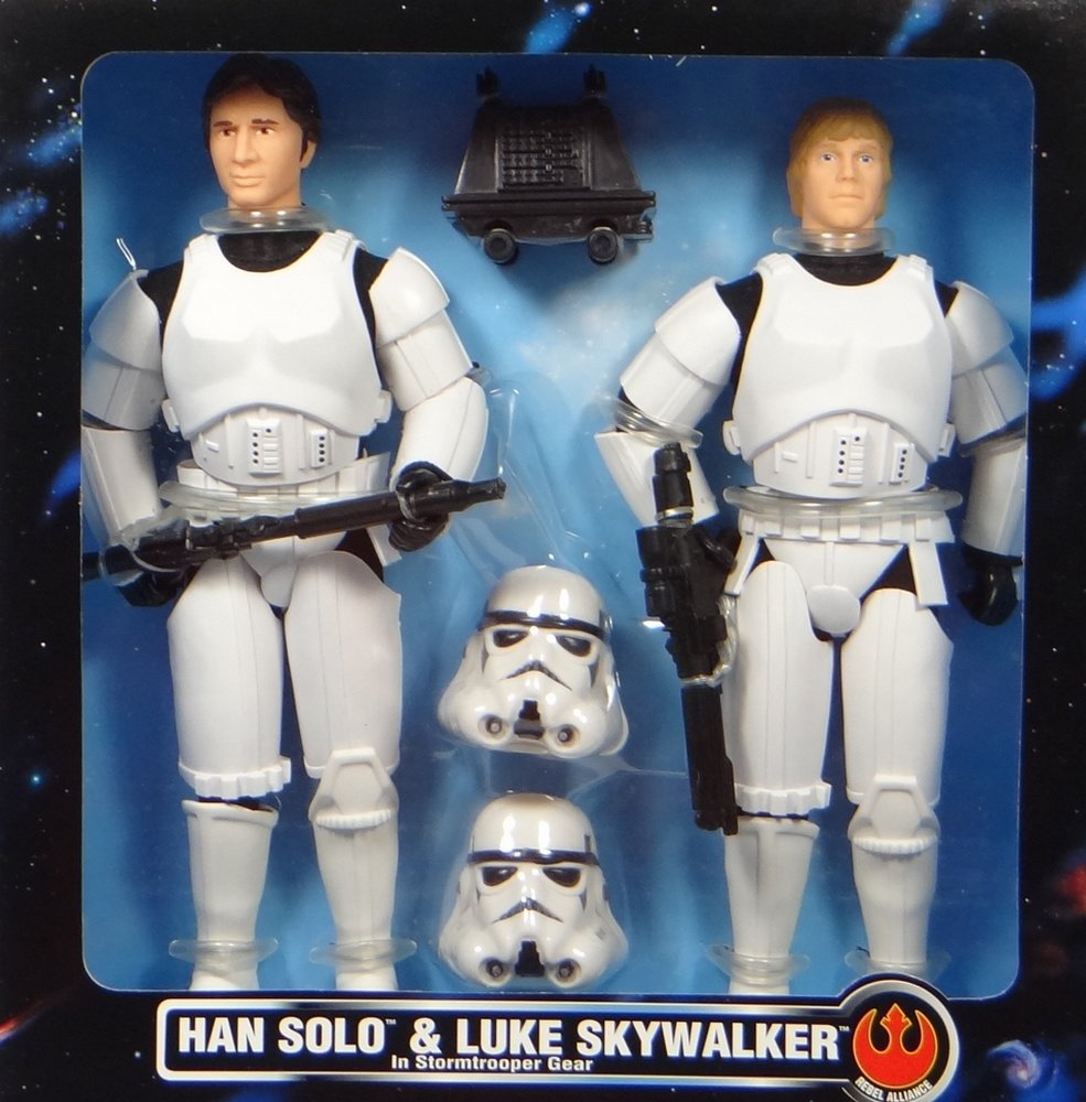 Star Wars Han Solo and Luke Skywalker in Stormtrooper Gear Limited Edition Collector Series Action Figures Set by Kenner
