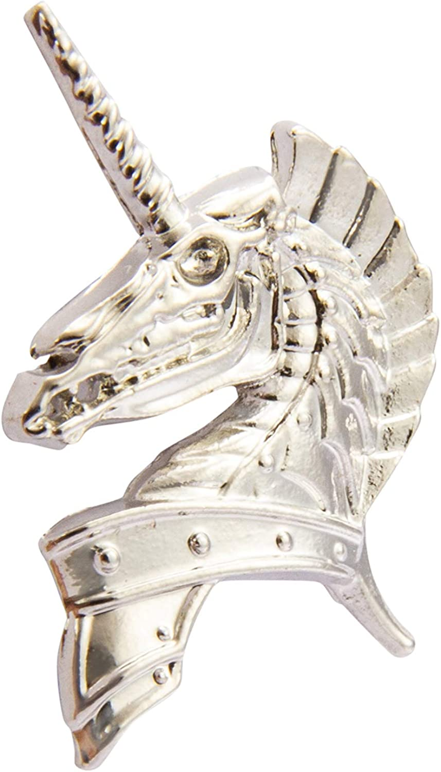 A N KINGPiiN Silver Unicorn Lapel Pin Badge Gift Party Shirt Collar,Costume Pin Accessories for Men Brooch