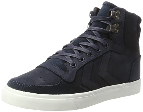 hummel Stadil Winter, Sneakers Hautes Mixte Adulte, Bleu (Total Eclipse), 48 EU