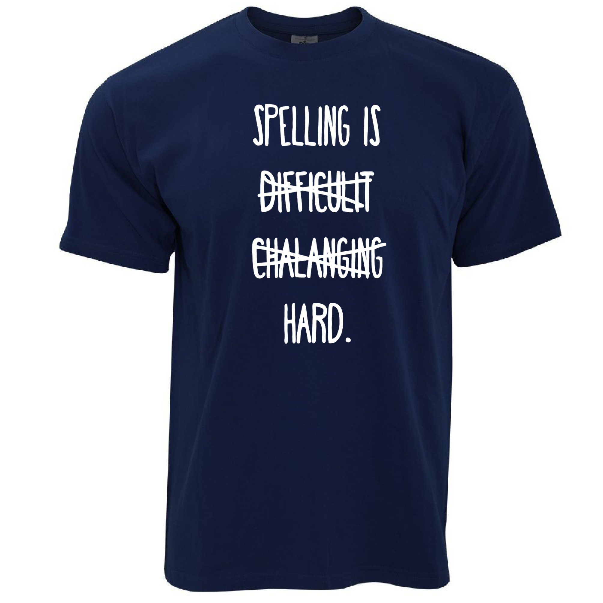 Tim And Ted Funny T Shirt Spelling Is Difficult Challenging Hard 8574