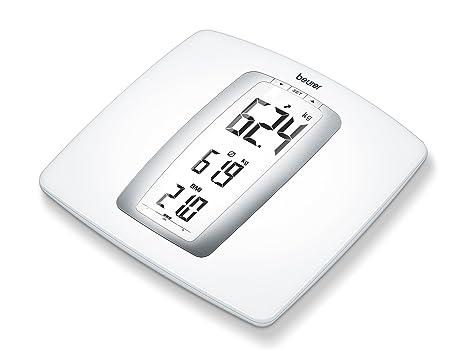 Beurer PS 45 BMI - Báscula de diseño con cálculo del IMC, medición 180kg/