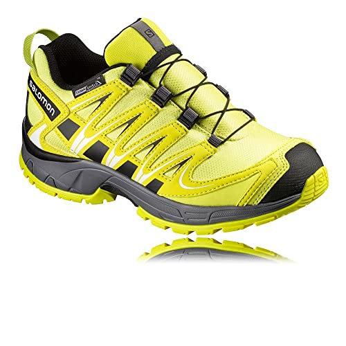 Salomon L39043500, Zapatillas de Trail Running para Niños, Amarillo (Corona Alpha Yellow/Dark Clo), 38 EU: Amazon.es: Zapatos y complementos