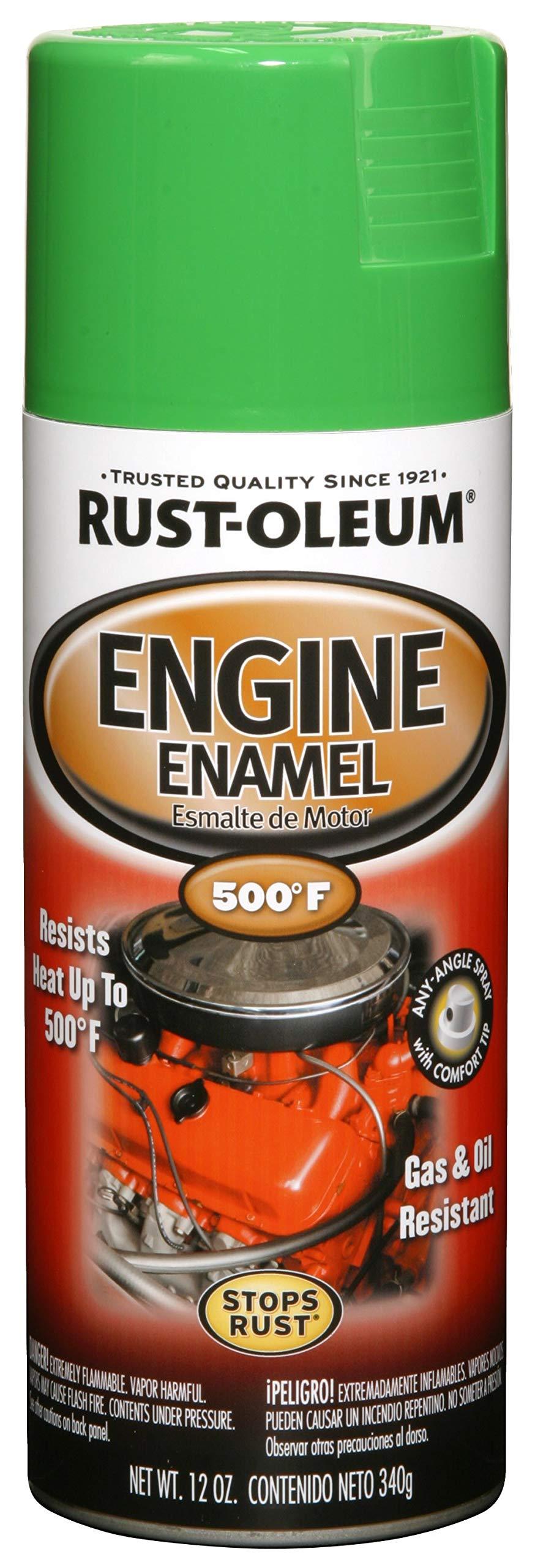 Rust-Oleum 248951, Grabber Green, 12 oz, Automotive Engine Enamel Spray Paint
