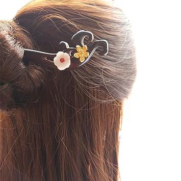 Amazon Fantac Crafts Vintage Ebony Hair Stick Hairpin Chignon