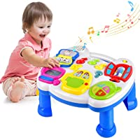 Farraige® Musical Learning Table Baby Toys - Early Educational Development Activity Center Multiple Modes Game for Toddlers Boys Girls Kids Infant Music Lighting Animails Sound Gifts