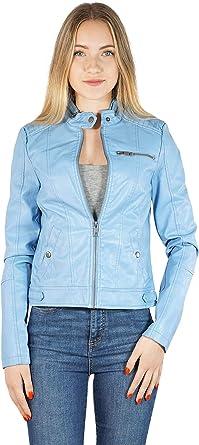 Vero Moda Vmelda Short PU Jacket Boos Chaqueta para Mujer