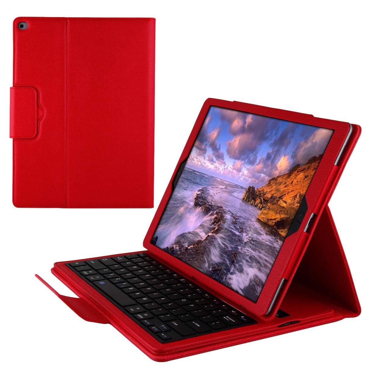 上等な iPad Pro 2017用 12.9インチ 2015 2017 キーボードケース フリップ 2015 BasicStock 超薄型 PUレザー 充電式 取り外し可能 フリップ PC タブレットケース ワイヤレス US キーボードカバー iPad Pro 12.9インチ 2015 2017用 (レッド) レッド 6417-11-573 レッド B07KW7CXXZ, ソファ カウチソファーのAzStyle:a5c987b8 --- a0267596.xsph.ru