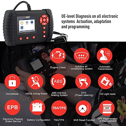 This OBD scanner allows you to control all the sensors and lights on the vehicle