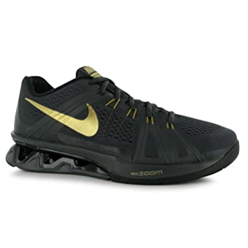 c20a7439df9 Nike Reax LightSpeed Training Shoes Mens Black Gold Fitness Trainers  Sneakers (UK7) (EU41) (US8)  Amazon.co.uk  Sports   Outdoors