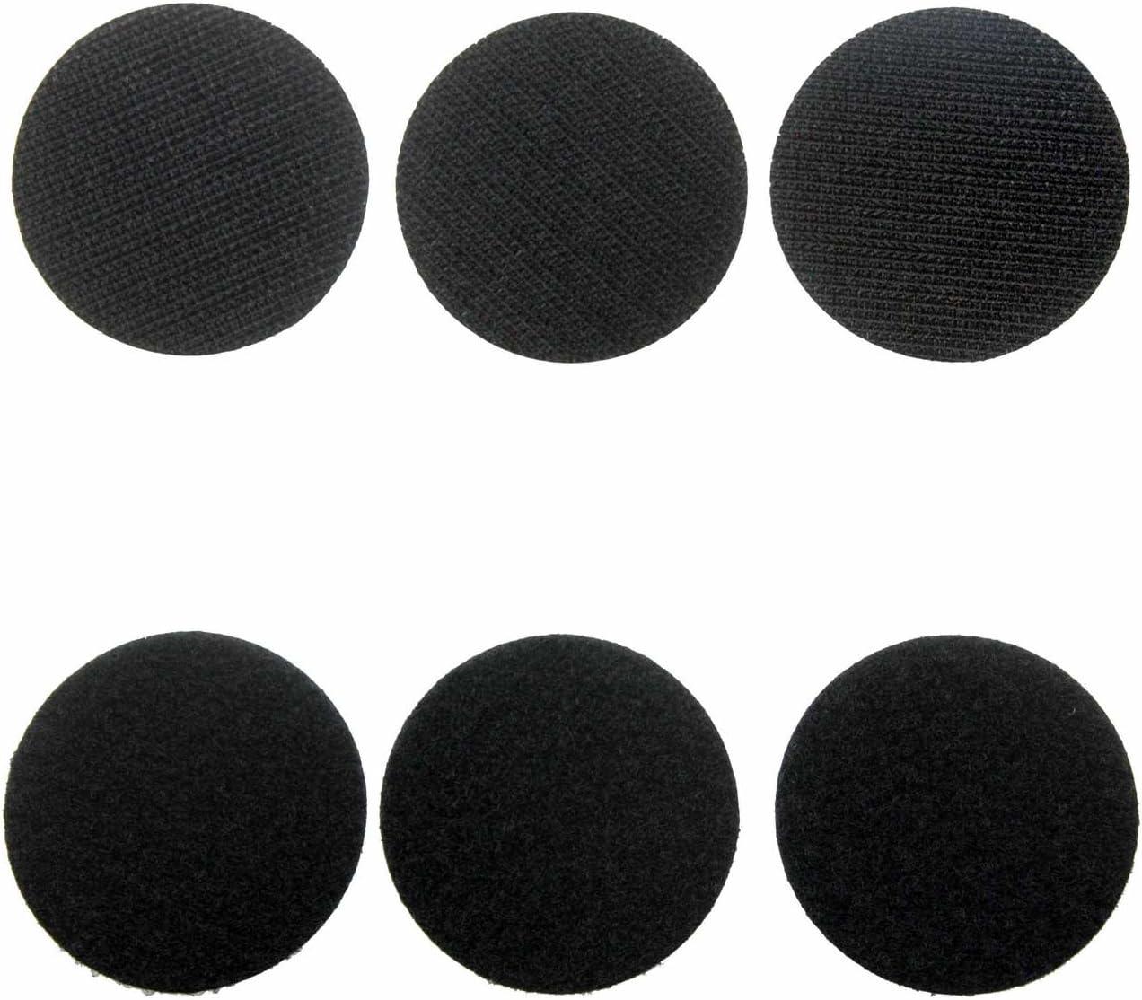6 cm schwarze Klettband Kleidungsst/ücke Self Adhesive Klebend Klettpunkte Klettverschlussaufkleber f/ür Kunststoff QLOUNI 24 Paare Runde Klettverschluss Glas