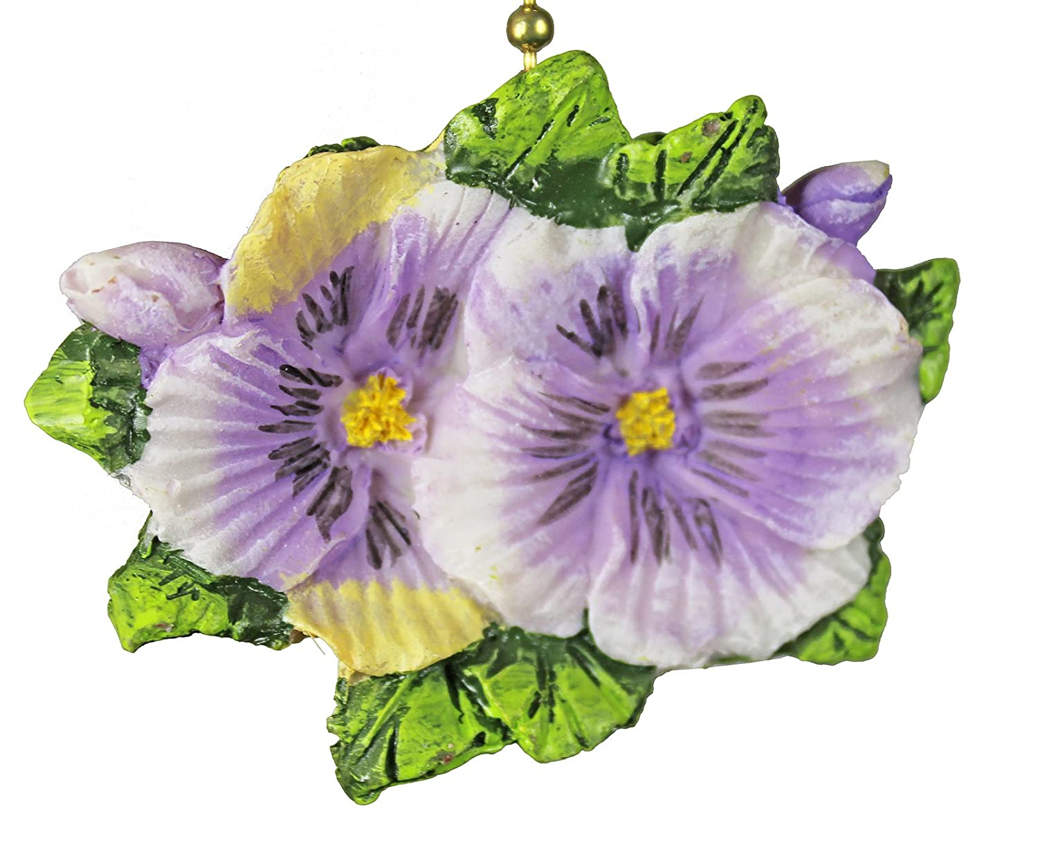 Pansies Flowers Floral Porch Ceiling Ceiling Fan Light Pull