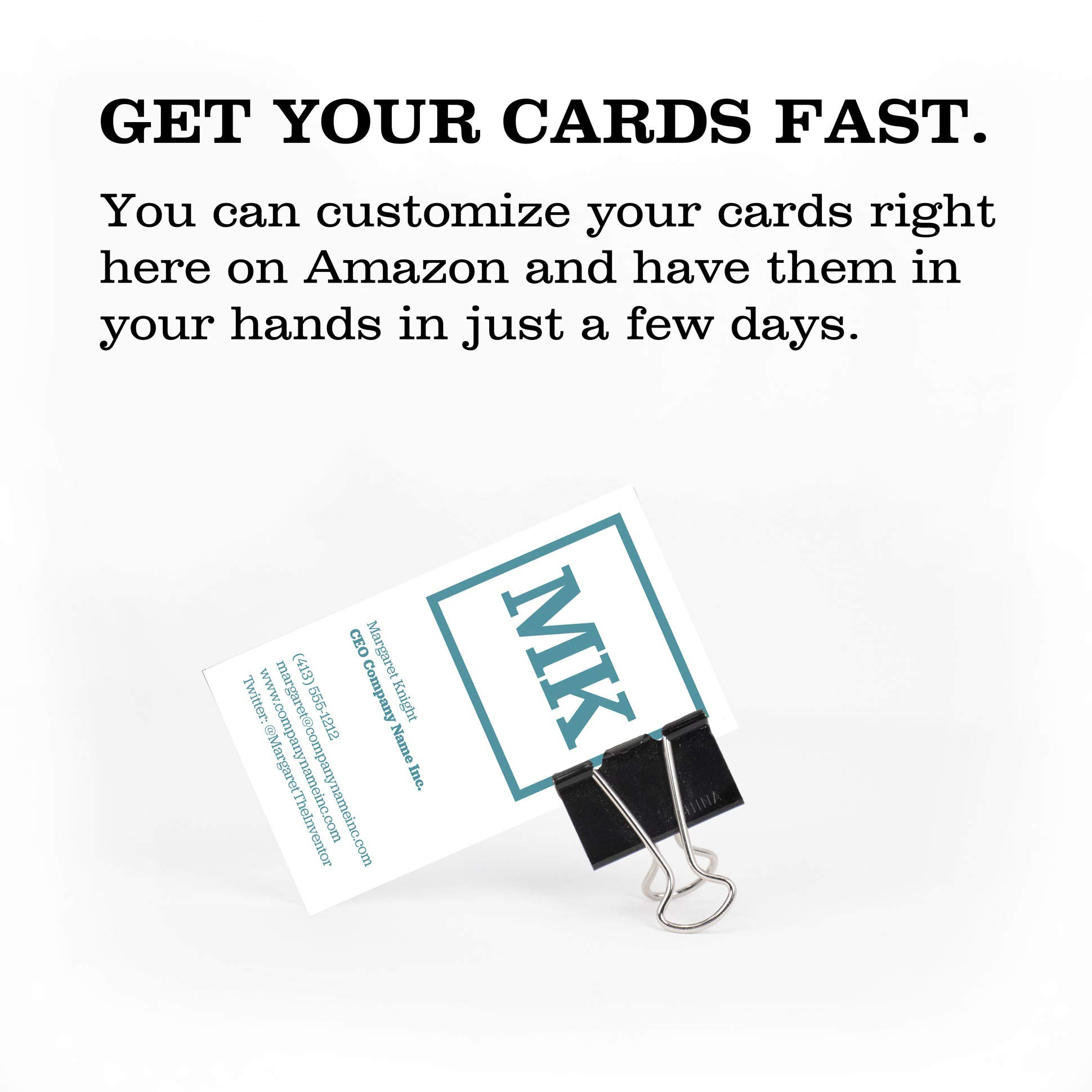 Buttonsmith Custom Ultra Thick Printed Business Cards - 3.5''x2'' - Quantity 500 - Double-Sided, 32 pt Smooth Touch - Made in The USA by Buttonsmith (Image #3)