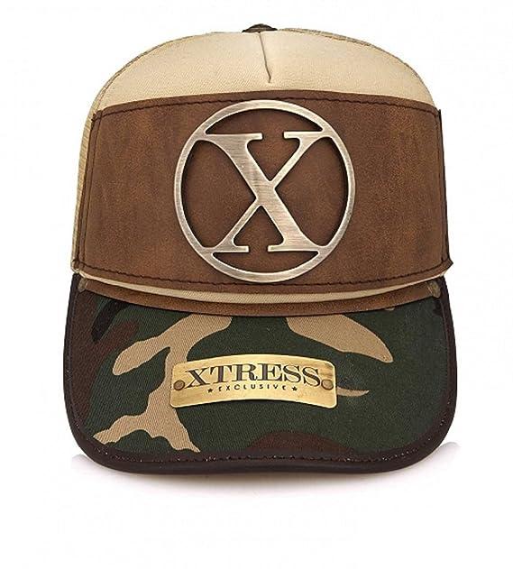 Xtress Exclusive Gorra marrón y de camuflaje para hombre y mujer.: Amazon.es: Ropa y accesorios