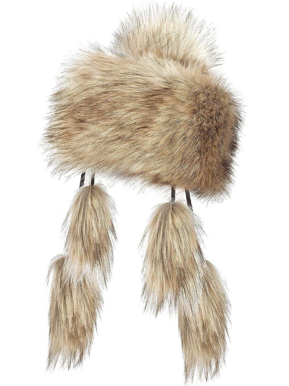 Futrzane Mongolian Faux Fox Fur Winter Hat for Women Russian Ski Futrzane-mongolka-15