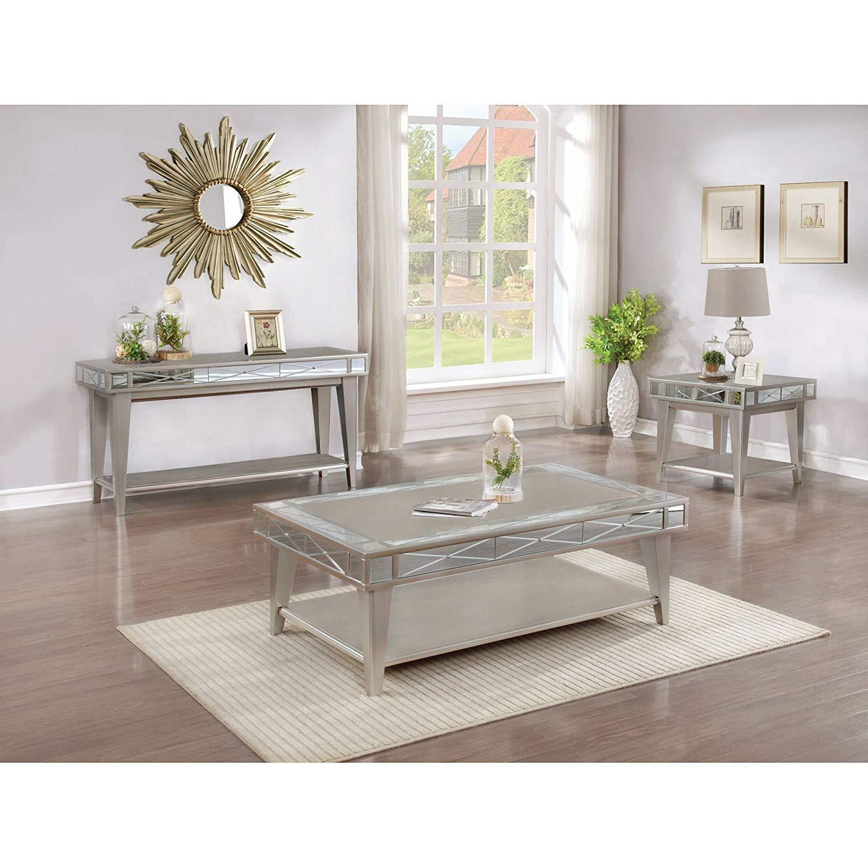 Coaster 720887-CO 1 Shelf End Table, Mercury by Coaster Home Furnishings