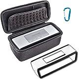 BOVKE for Bose Soundlink Mini II and Mini I Bluetooth Speaker Hard EVA Soft Cover Shockproof Carrying Case Storage Travel Bag Protective Pouch Box,Mesh Black