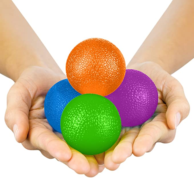 Rovtop Hand Stress Balls for Hand Finger and Grip Strengthening-Set of 3 Resist
