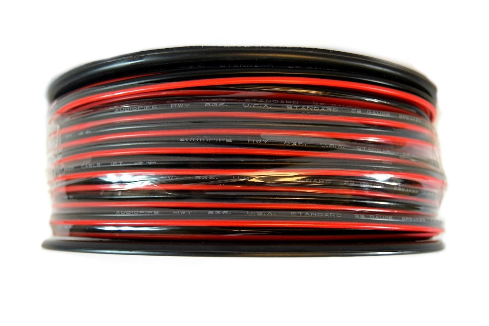 Speaker Wire 22 GA 250 Feet Red Black Stranded Copper Clad Home Audio Sound by Audiopipe (Image #3)