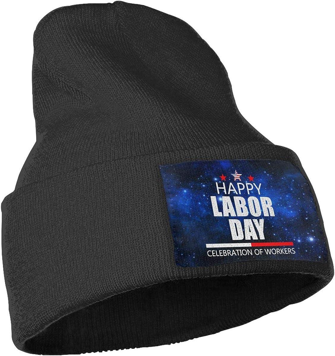 COLLJL-8 Men /& Women Celebrate Labor Day Outdoor Warm Knit Beanies Hat Soft Winter Knit Caps