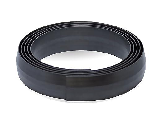 Cinta Magnética para robot aspirador Aspiradora I rollo de 25 mm de ancho en 5 metros. Color negro I Ideal para alfombras, escaleras y paredes: Amazon.es: ...