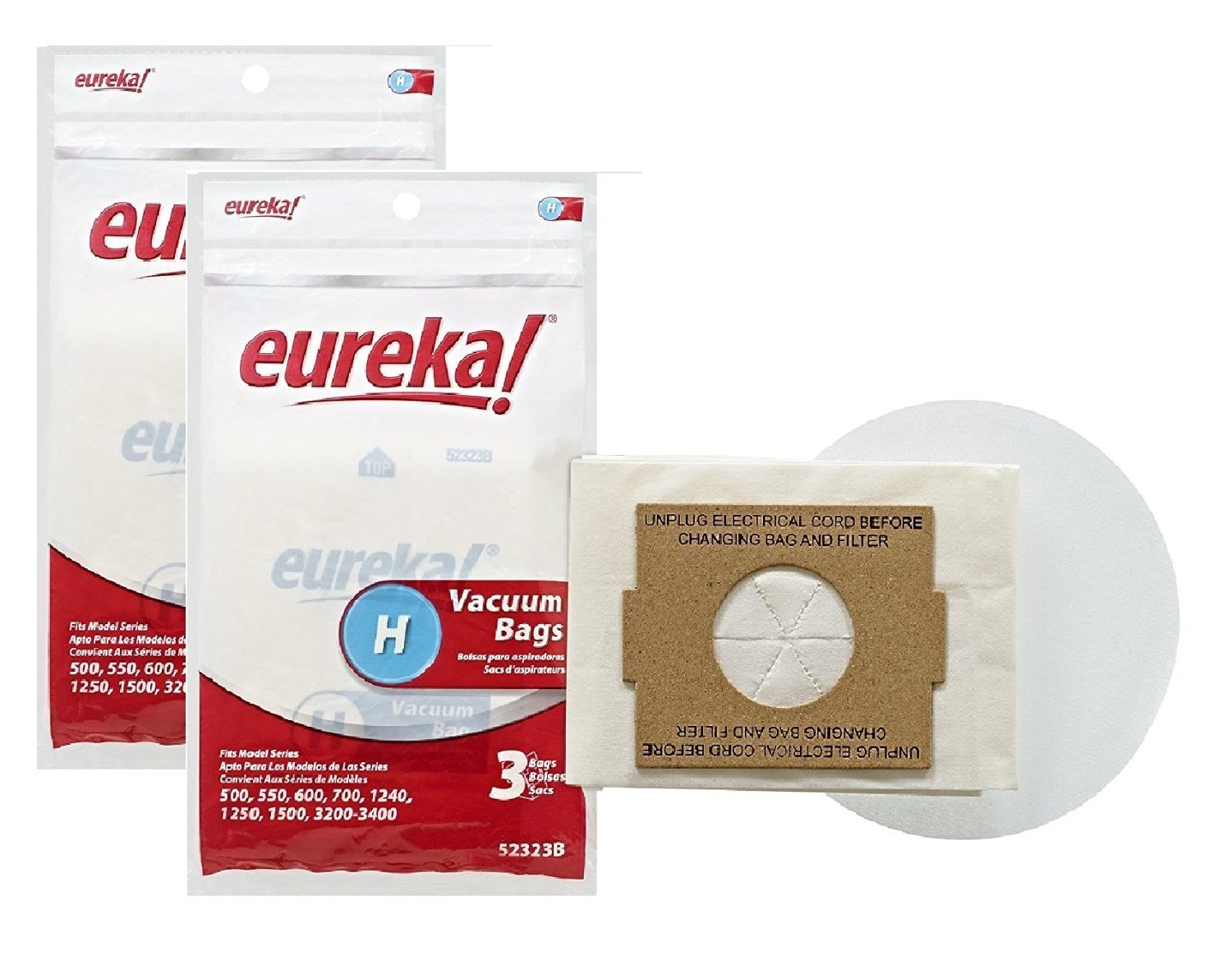 Genuine Eureka Style H Vacuum Bag 52323A 6-Pack