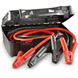 Jumper Cables, Car Battery Charger - Heavy Duty And Durable Booster Cable, 1 Gauge 600 Amp Clamp And Cables, 25 Feet Long, With A Hard Case - By Katzco