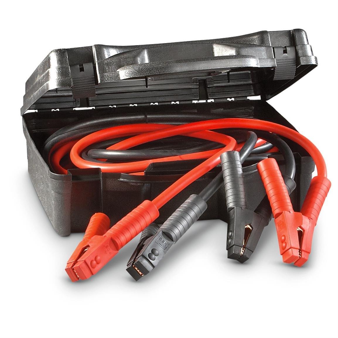 Katzco Jumper Cables, Car Battery Charger - Heavy Duty And Durable Booster Cable, 1 Gauge 600 Amp Clamp And Cables, 25 Feet Long, With A Hard Case by Katzco