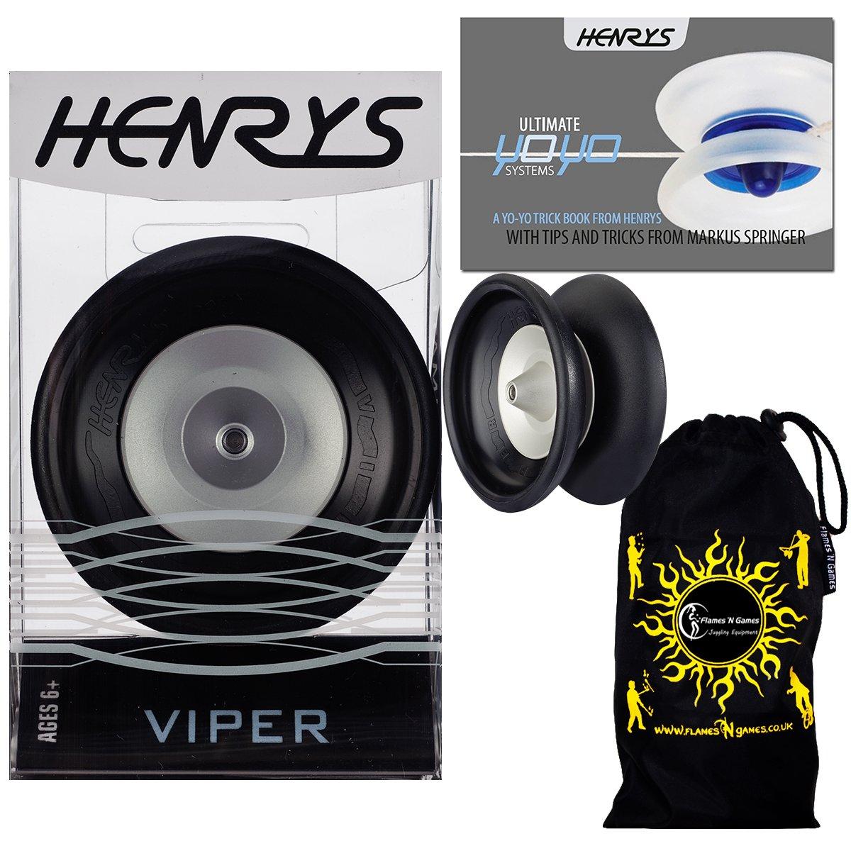 Henrys VIPER YoYo (Black) Professional Ball Bearing YoYo