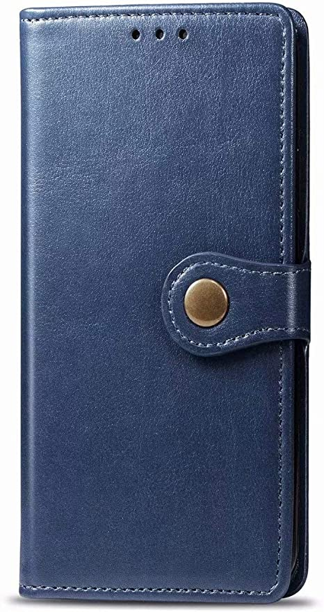 Funda para Samsung Galaxy A01 Funda Libro, Cartera Estuche Antigolpes Golpes de Cuero con Libro de Cuero Flip Case, Carcasa PU Leather con TPU Silicona Case Interna Suave Cierre Magnético azul: Amazon.es: